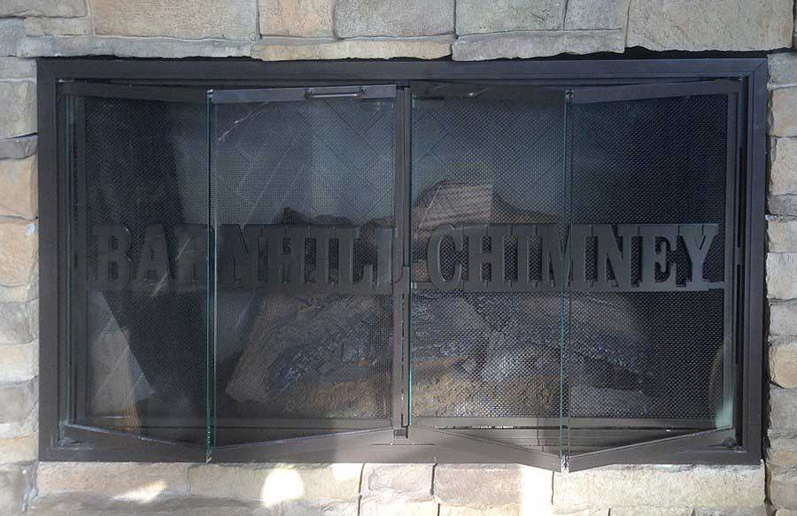Cleaning Glass Fireplace Doors Barnhill Chimney