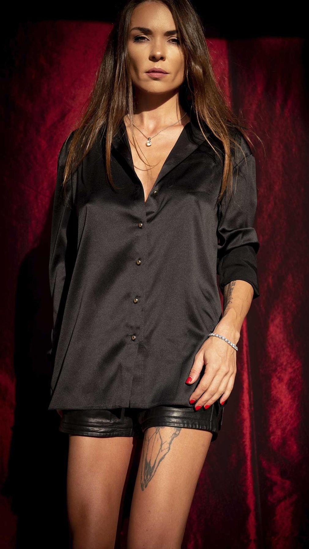 Черная блуза Boyfriend