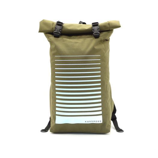 Оливковый рюкзак / Olive Reflective Backpack / Сумка со светоотражающим принтом
