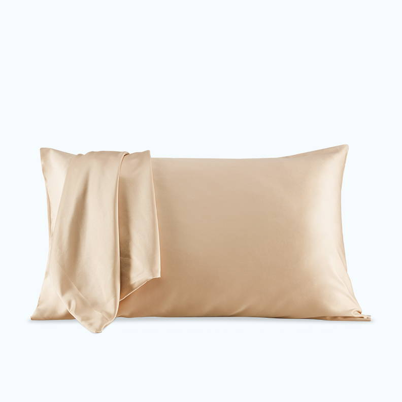 sleep zone bedding website store products collections  satin pillowcase almond buff