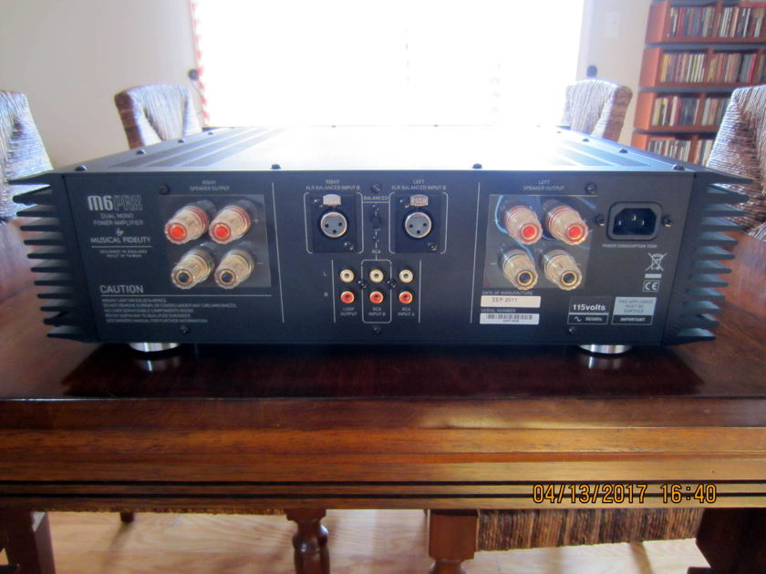 Musical Fidelity M6PRX Solid State Stereo Power Amplifier (BLACK)