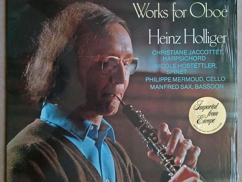 PHILIPS   HOLLIGER/TELEMANN - Works of Oboe / NM