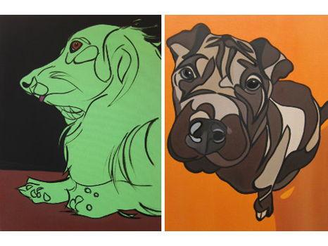 Your Painted Pet!  Custom Pet Portrait by Melinda Buie