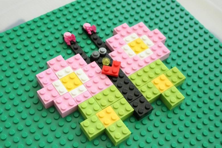 Lego symmetrical butterfly