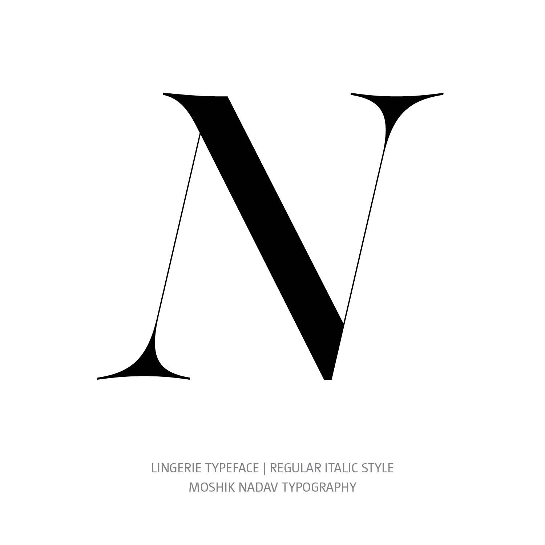 Lingerie Typeface Regular Italic N