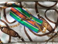 Ralph Lauren Scarf and Vintage Gold Harness Racing Pin