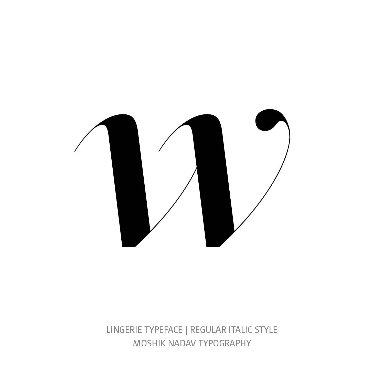 Lingerie Typeface Regular Italic w - Fashion fonts by Moshik Nadav Typography