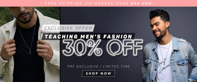 Teaching Men's Fashion 30% Off