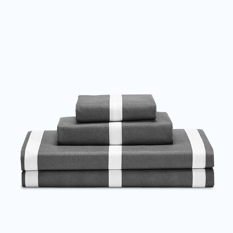 sleep zone bedding website store products collections cooling striped sheet set classic grey gray