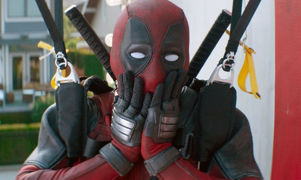 Image of Deadpool from the Marvel movies, looking shocked with his hands on his face.