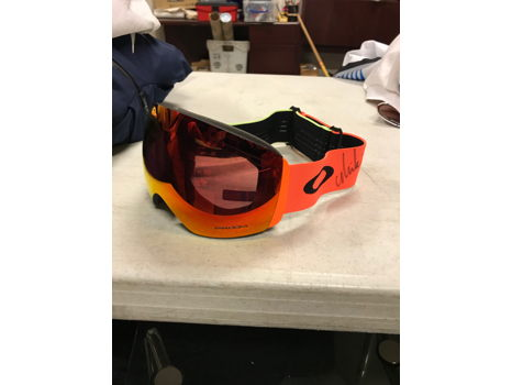 Flight Deck Prizm Halo2018 Snow Goggle by Oakley Signed by Mikaela Shiffrin