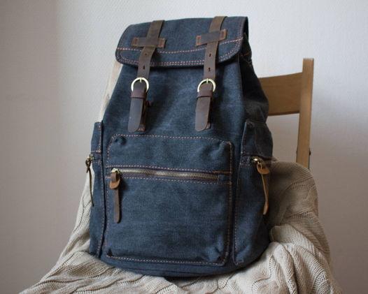 Черный городской рюкзак для путешествий