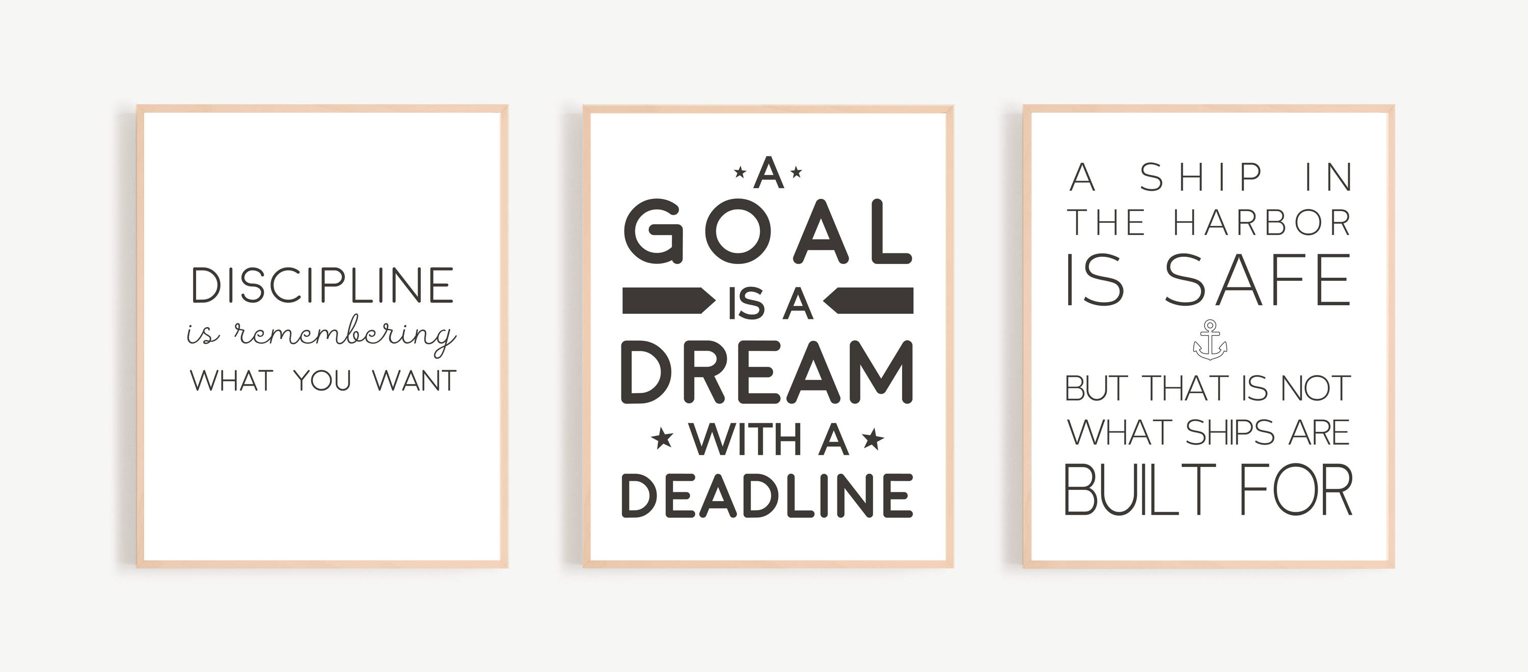 A Goal is A Dream with a deadline Inspirational Wall Art