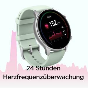 Amazfit GTR 2e - 24-Stunden-Herzfrequenzüberwachung