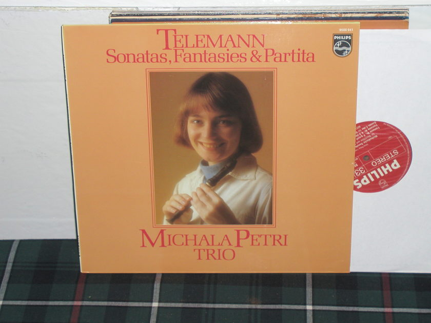 Michele Petri Trio - Telemann Sonatas Philips Import LP 9500