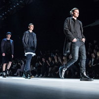 A classy Quick-Step catwalk at the Mercedes-Benz Fashion Week Australia