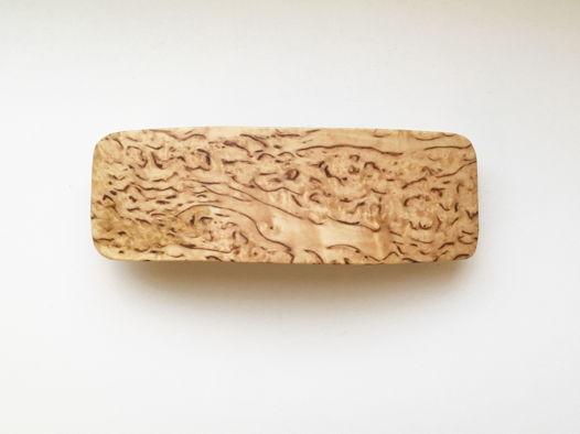 Деревянная заколка из карельской березы