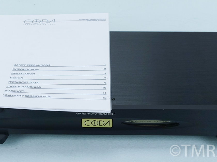 Coda 06x Phono Preamplifier / Preamp; $4500 MSRP (7491)