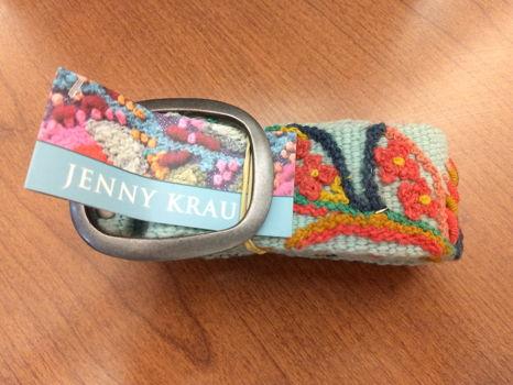 Sundance/Jenny Krauss Embroidered Belt, Size Medium