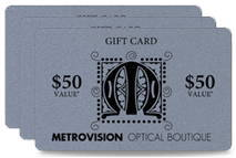 metallic plastic gift cards