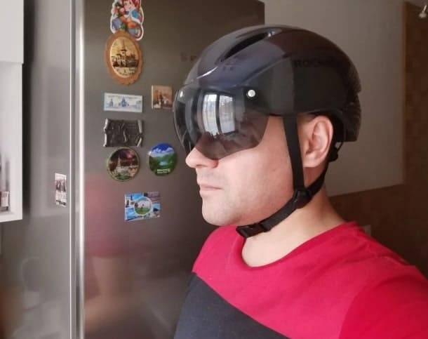 casque velo trottinette-visiere-changeable