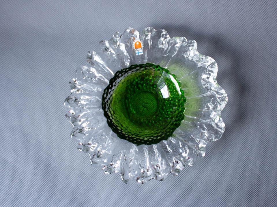 Ледяная креманка, дизайнерское стекло 70х, Скандинавия
