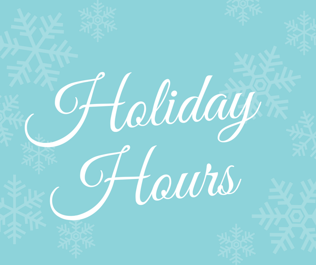 primrose west pearland; winter holiday hours