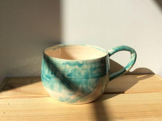 Бирюзовая чашка для чая