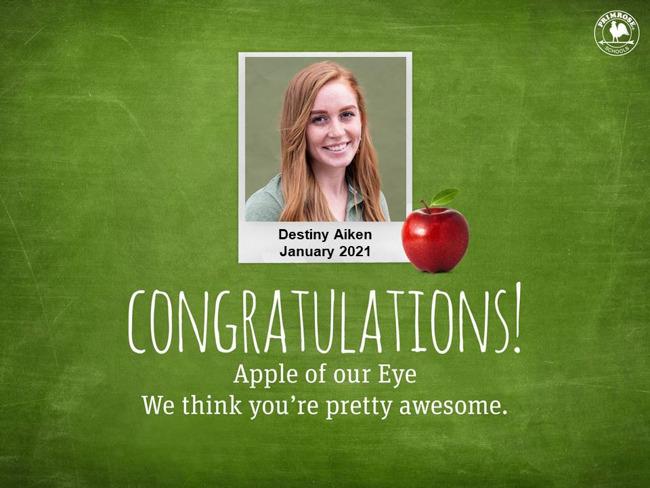 destiny aiken january apple of our eye