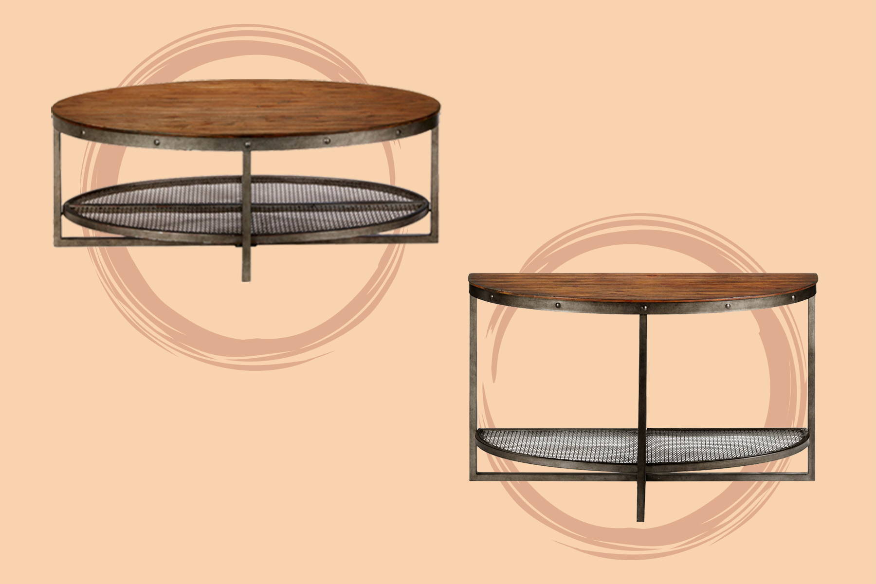two round tray table