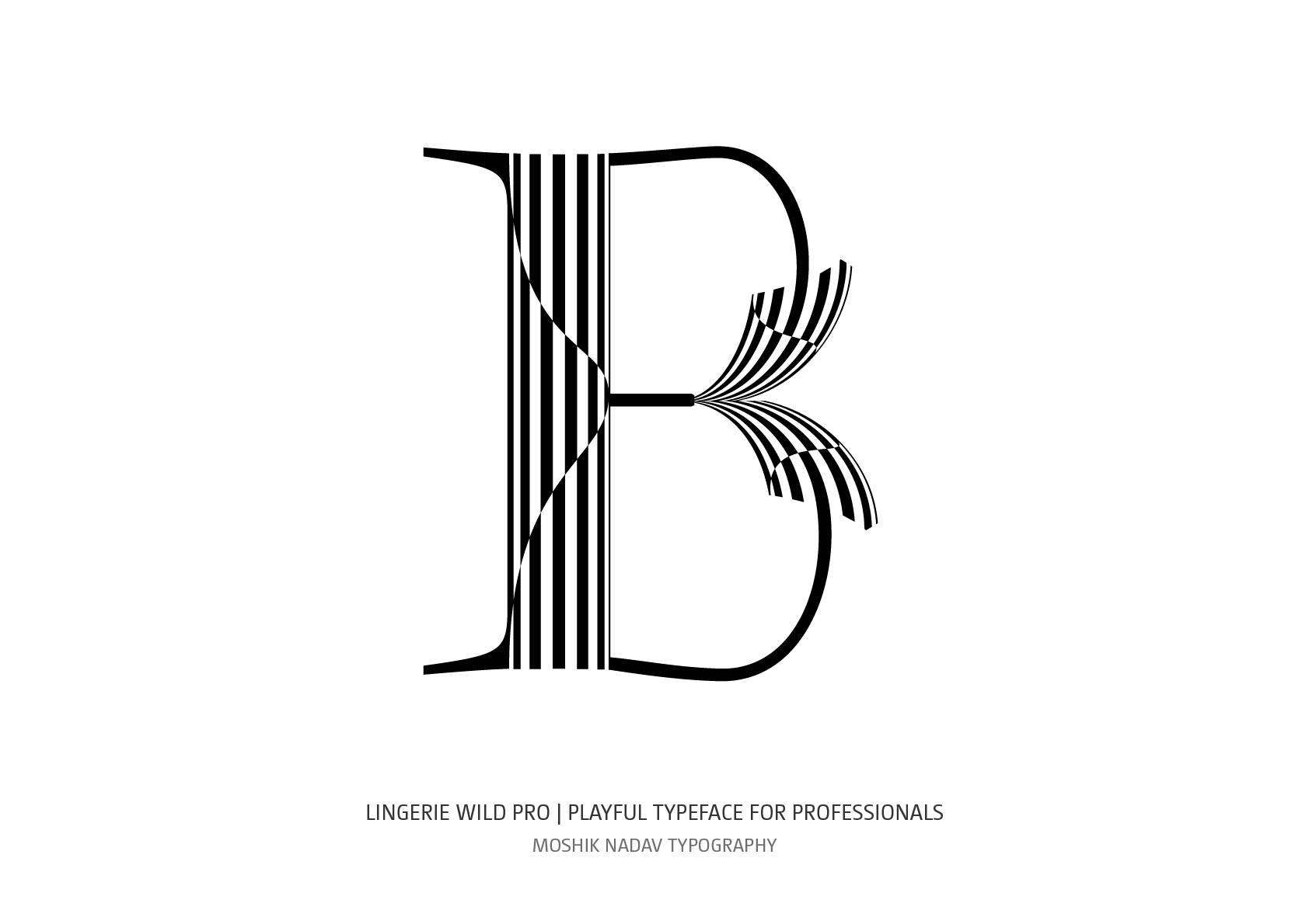 Lingerie Wild Pro Typeface Chimera X style by Moshik Nadav