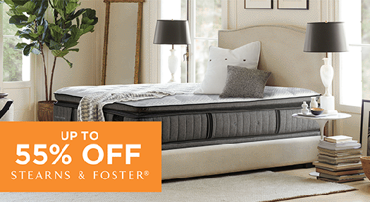Up to 55% off Stearns & Foster