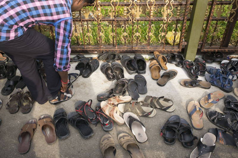 shoes in india on ground