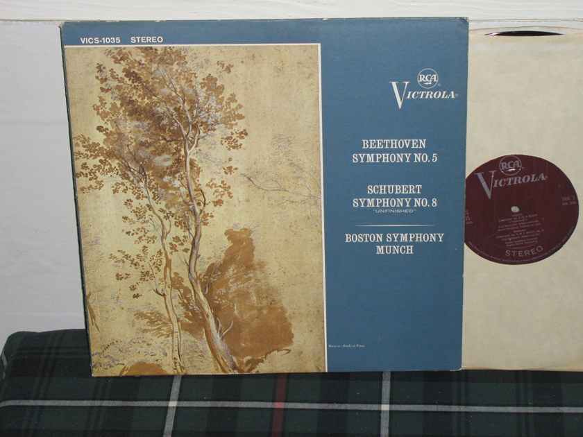 Munchinger/BSO - Beethoven/Schubert RCA Plum Victrola STEREO