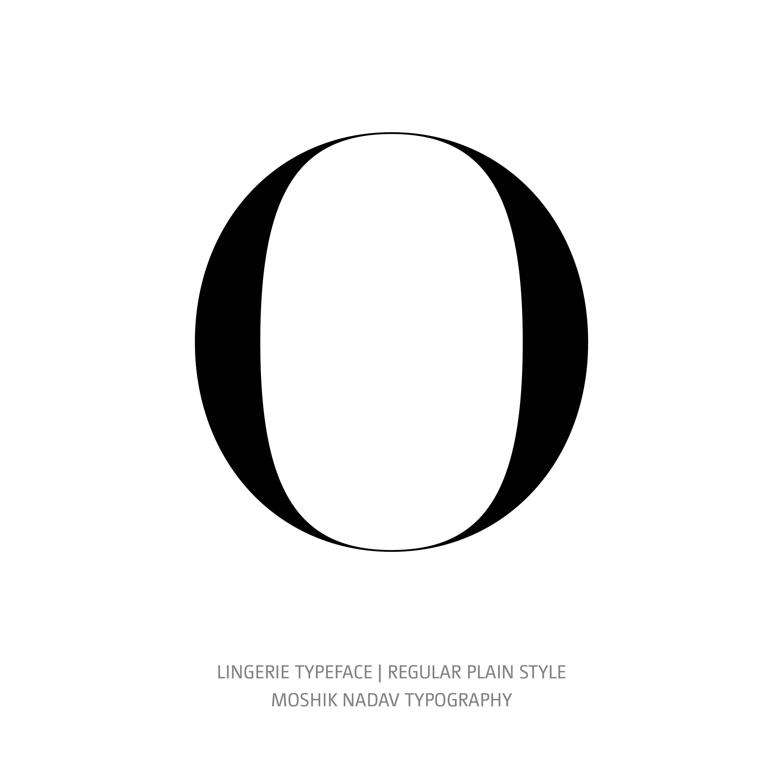 Lingerie Typeface Regular Plain O