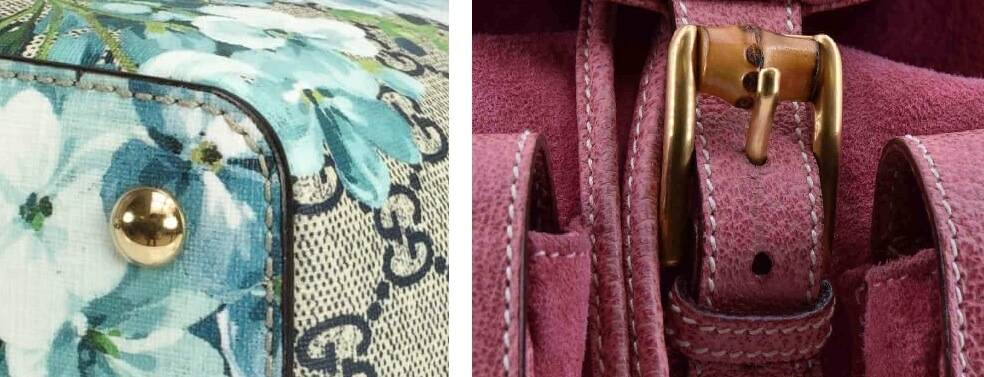 Examples of Stitching on Gucci Bags