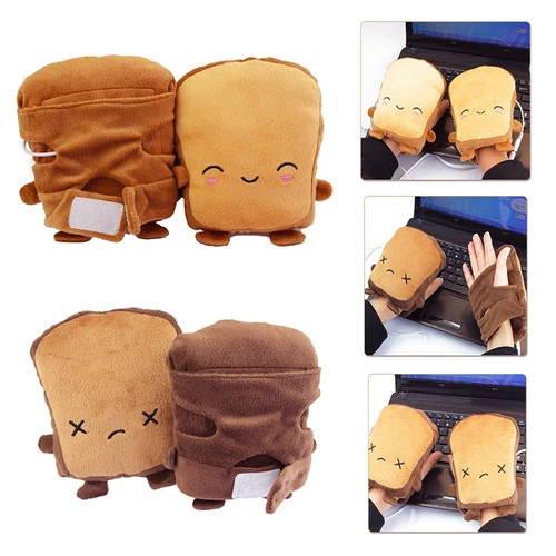 toast shaped heated gloves
