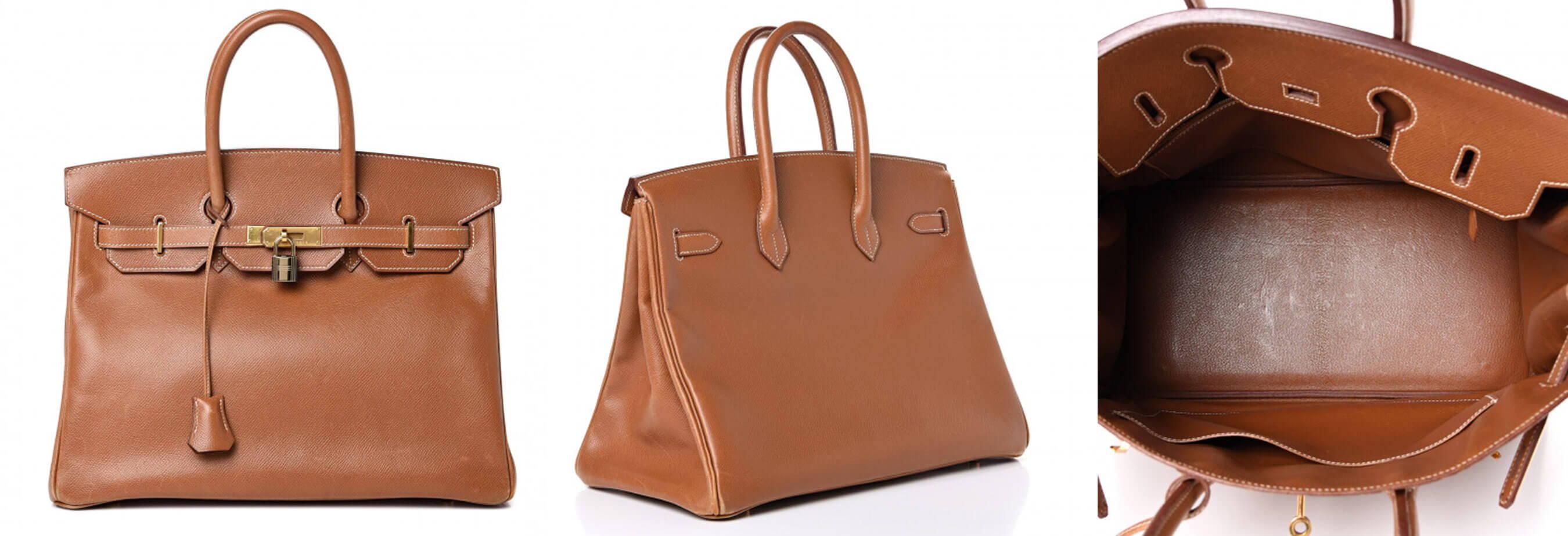 Hermes Birkin bag in Brown color