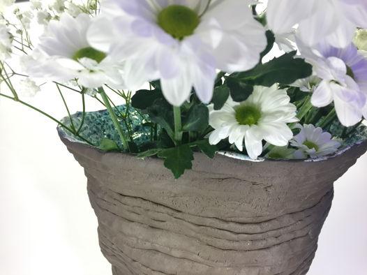 """Напольная керамическая ваза ручной работы """"Внутренний мир"""", черная. Высота 32 см."""