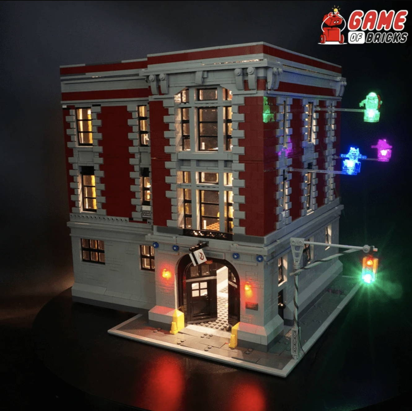 lego night light GHOSTBUSTERS FIREHOUSE HEADQUARTERS 75827