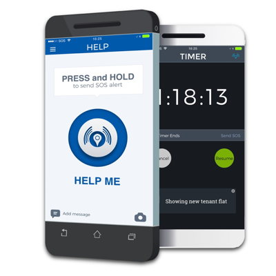 My SOS Family Help Me and Timer app features