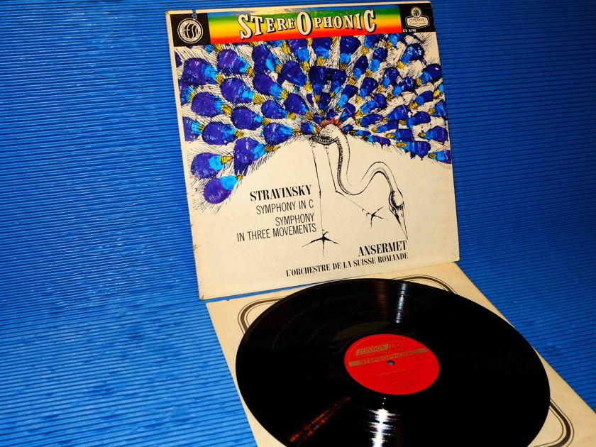 """STRAVINSKY / Ansermet   - """"Symphony in C / Symphony in 3 Movements"""" - London 1961"""