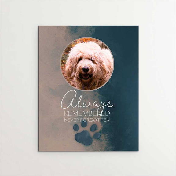 Always Remembered, Never Forgotten, Memorial, Labradoodle