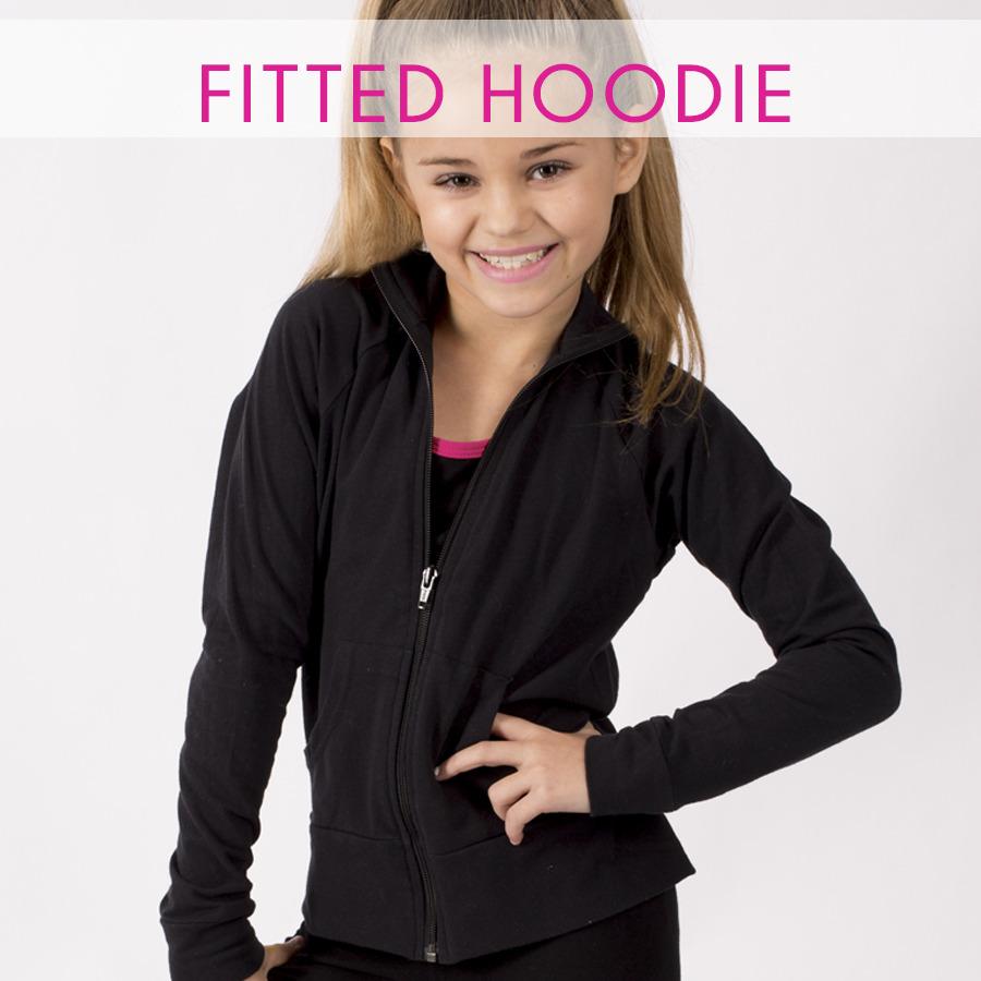 glittertarz fitted hoodie black zip up rhinestone teamwear