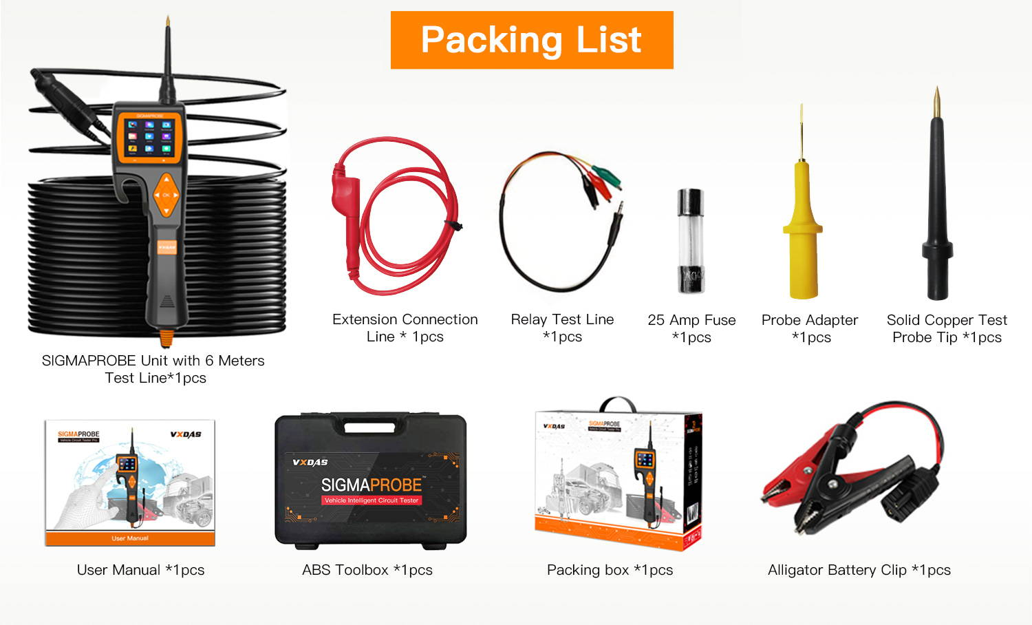 Sigmaprobe circuit tester package list