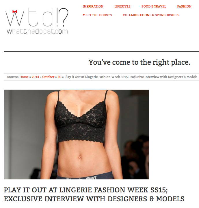 What the Doost.com - Play Out at Lingerie Fashion Week