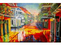"""Downpour on Bourbon"" Print by Diane Millsap"