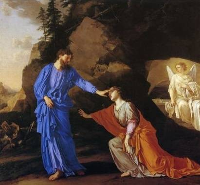 Jesus as Gardener Meets Mary