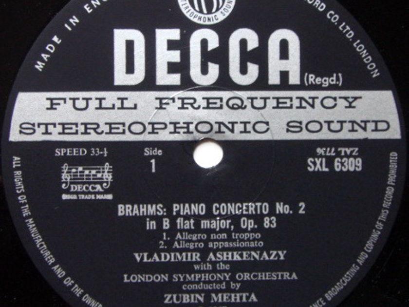 DECCA SXL-WB-ED2 / ASHKENAZY-MEHTA, - Brahms Piano Concerto No.2, NM-!