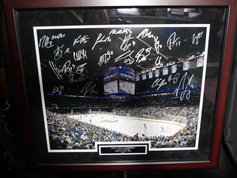 2015 NY Islanders Signed Framed Photo
